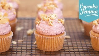 Cherry Bakewell Cupcake Recipe | Cupcake Jemma by Cupcake Jemma