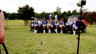 9. Behind the scenes with Bennche and the Dallas Cowboy Cheerleaders