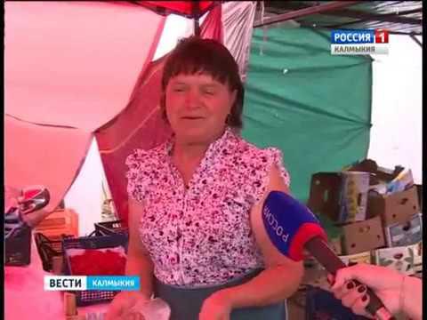 Выявление продукции без карантинных сертификатов на овощном рынке в Калмыкии.