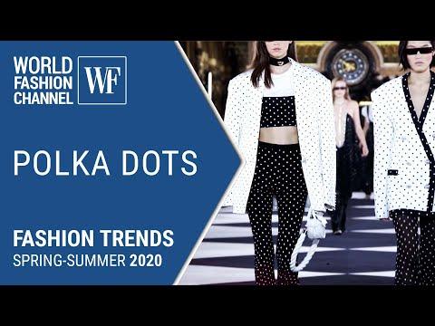 Polka dots Fashion trends spring-summer 2020 видео