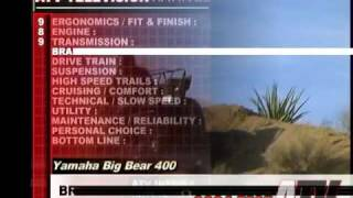 9. ATV Television QuickTest - 2004 Yamaha Big Bear 4x4