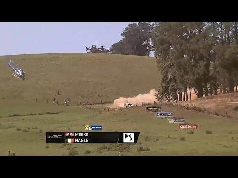 La increíble maniobra de un helicóptero-cámara en una carrera de rallyes