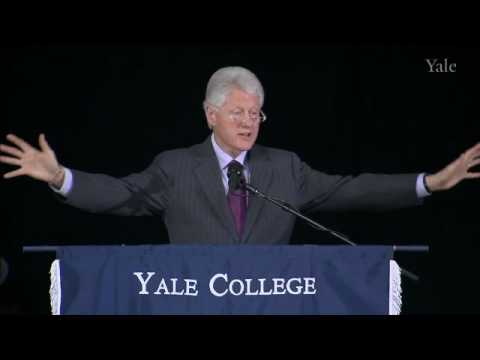 Yale - Former U.S. President Bill Clinton, Founder of the William J. Clinton Foundation and 42nd President of the United States, speaks at Yale University's 2010 Cl...
