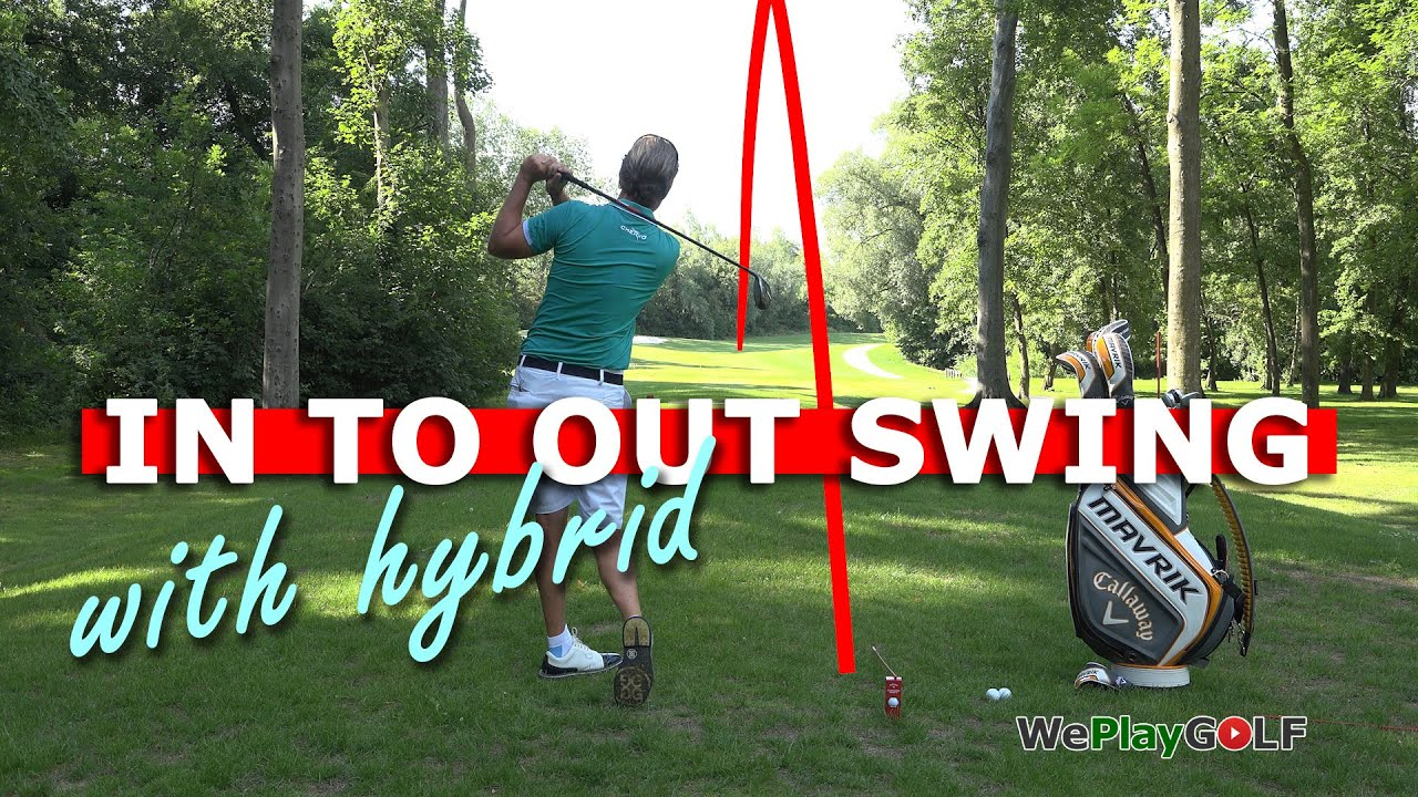 IN to OUT golf swing with a HYBRID - A simple tip to make a draw