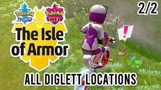 All 151 Diglett Locations in Pokemon Isle of Armor (2/2) by Tyranitar Tube