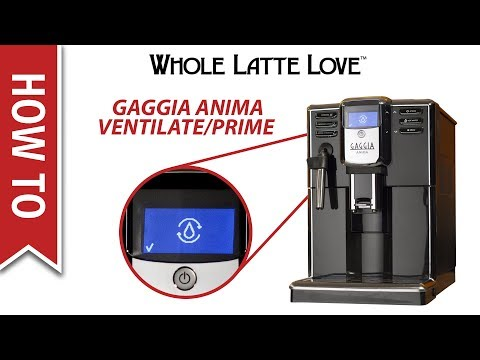 How To Prime/Ventilate a Gaggia Anima Espresso Machine