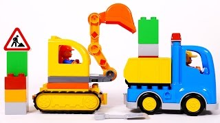 Lego Dump Truck and Excavator Toy Playset for Children Lego Duplo