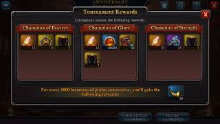 10. Lol!! anniversary rewards nerfed because of my video.. sowwie - King of Avalon