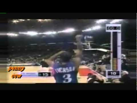 Allen Iverson AT&T 3 Point Shootout in NBA All Star 2000 *AI talks about PRACTICE