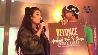 Nog maar vijftien jaar en dan al een gouden plaat binnenslepen. Het lukte de jonge rapper Tur-G. Zijn track Beyoncé in samenwerking met Andy, die overigens pas zestien jaar is, heeft de goudenstatus bereikt. Mahi Khalesi is langs geweest bij de set van de film Misfit, waar Tur-G een rol in speelt, om hem te verassen met de gouden plaat. Spotify: http://spoti.fi/2hs1LU2Deezer: http://www.deezer.com/track/138558659Itunes: https://itun.es/nl/gPpZgbTidal: http://tidal.com/#!/track/68408004Meer info via:Tur-Ghttp://www.Tur-G.nlhttp://www.twitter.com/Tur_Ghttp://www.instagram.com/IAmTur_Ghttps://www.facebook.com/OfficialTurgVoor boekingen : Tur-G@Jet-music.nlAndy Van de meiden.http://www.instagram.com/andy_vd_Meidenhttps://www.facebook.com/OfficialTurgVoor boekingen: Andy@Jet-music.nlCanéhttps://www.facebook.com/calvin.jeremy.779https://www.instagram.com/prodbycane/Voor boekingen of beats Cane@jet-music.nl