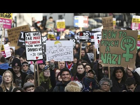 Διαδηλώσεις κατά της πολιτικής του Ντόναλντ Τραμπ σε Ευρώπη και Αυστραλία