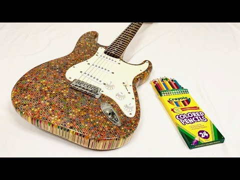 Guitar Made From 1200 Colored Pencils