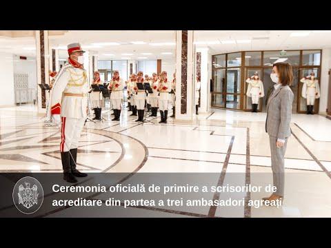 Президент Майя Санду приняла верительные грамоты послов Словении, Чехии и Италии
