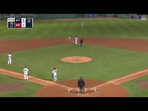 Benches clear twice between Yankees, Red Sox (видео)