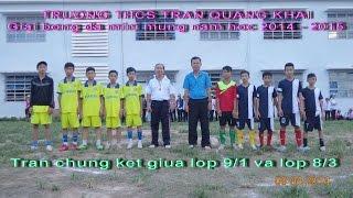 THCS Trần Quang Khải, Hoà Sơn, Hoà Vang, ĐN, Giải Bóng đá Mini  Năm Học 2014 - 2015