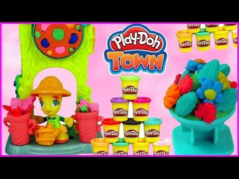 Play doh Town Kwiaciarka  Kolorowe wiosenne kwiatki  bajka po polsku