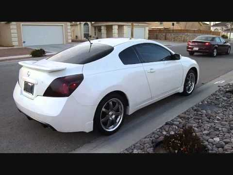 2008 WHITE NISSAN ALTIMA COUPE ON 18