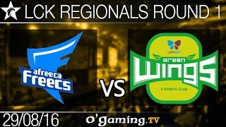 Afreeca Freecs vs Jin Air Green Wings - LCK Regionals - Round 1