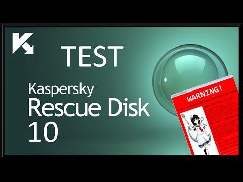 Kaspersky Rescue Disk 10 - Test na zainfekowanym systemie