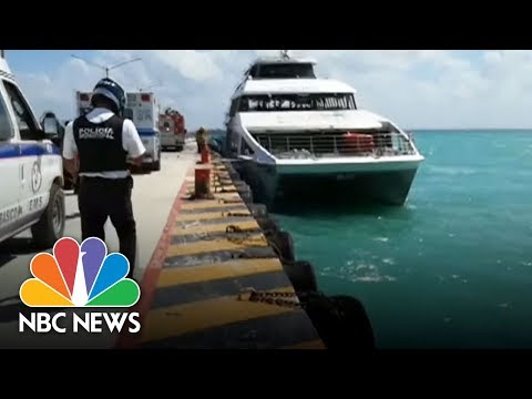 Fiery Blast On Ferry At Mexican Resort Wounds 25 | NBC News (видео)