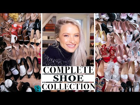 150 DESIGNER SHOE COLLECTION IN MY NEW CLOSET | INTHEFROW видео