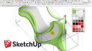 Video Curved Bench Modeling in SketchUp MP3, 3GP, MP4, WEBM, AVI, FLV Desember 2017