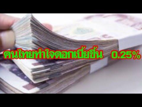 คนไทยทำใจดอกเบี้ยขึ้น  0.25%   คุยเฟื่องเรื่องเศรษฐกิจ 191261
