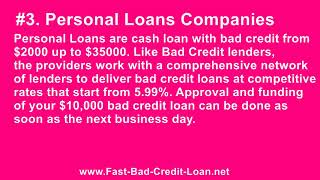 Where Can One Obtain A $10,000 Cash Loan With Bad Credit