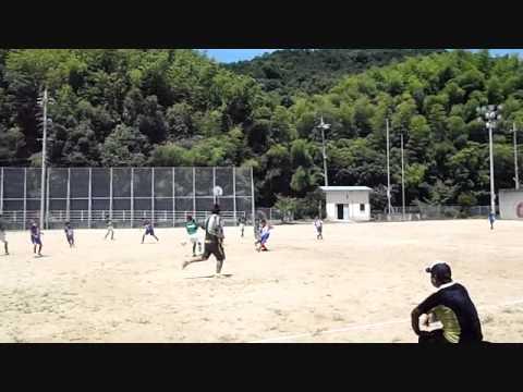 似島小学校サッカートレーニングマッチ 2011.07.10