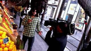 OMAR ALLIBHOY FILMING IN MADRID