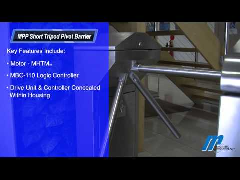 MPP Short Tripod Turnstile Magnetic Automation