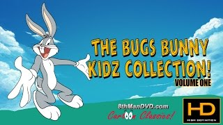 """Bugs Bunny Vol. 1 Collection contains four classic Looney Tunes cartoons for children. All cartoons have been remastered and restored in high definition ultra HD 4K (2160p) and closed captioned. Bugs Bunny is one of the most well known cartoon characters known around the world and loved by both kids and adults.Bugs Bunny was originally voiced by Mel Blanc, and starred in many Looney Tunes and Merrie Melodies cartoons. Bugs Bunny became a cultural icon with his catchphrase, """"What's Up Doc?"""" and he had many adventures with Daffy Duck, Yosemite Sam, Elmer Fudd, Porky Pig, Tweety Bird and more.00:15 The Wacky Wabbit07:39 Waciki Wabbit14:21 The Wabbit Who Came To Supper22:29 Case of The Missing HareLooney Tunes (Looney Toons) and Merrie Melodies, featured famous cartoon characters; Bugs Bunny, Daffy Duck, Porky Pig, Elmer Fudd, Tweetie Pie, Speedy Gonzales, Road Runner and more.The looney tunes (commonly mistaken as Looney Toons) series features characters such as bugs bunny, daffy duck & porky pig. The looney tunes cartoons, movies and new looney tunes show have been produced for years. The looney tunes full episodes, produced by the official looney tunes are available on DVD and TV.8thManDVD.com and all content © 2016 ComedyMX LLC. All rights reserved. Unauthorized use is prohibited."""
