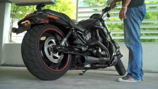 10. Harley Davidson VRod Night Special CFR Exhaust - Crazy Loud Before & After