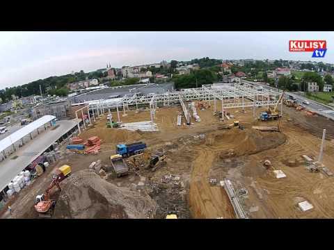 Budowa Era Park Wieluń z lotu ptaka