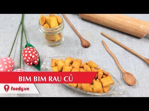 Mẹo hay chỉ cách làm bim bim rau củ cho các bé thích mê
