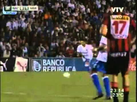 Alejandro Lembo en un partido de Nacional vs Miramar