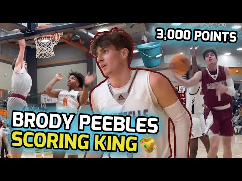Brody Peebles Is High School's Most Natural Scorer! Dropped 3,000 Career Points! Senior Season Mix 💰
