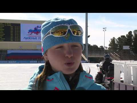 Анна Нечаевская - чемпионка России в гонке на 10 км свободным стилем