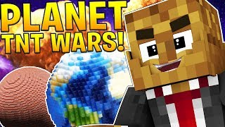 EPIC TNT WARS ON SPACE PLANETS 2VS2 - MODDED TNT MINIGAME