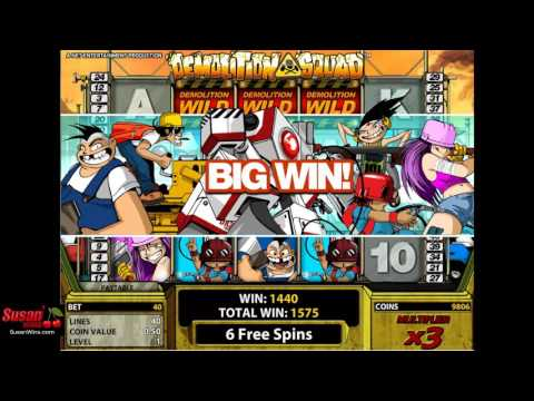 Phenomenal 1042 Win - Free Games - Demolition Squad Online Slot Review