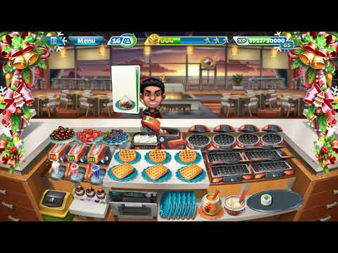 Cooking Fever - Sunset Waffles Level 40 (with 3 Stars) Upgraded