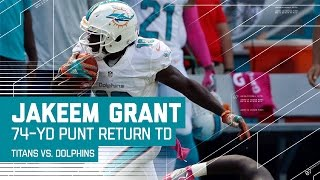 Jakeem Grant from 'Undrafted' Returns Punt 74 Yards for TD! | Dolphins vs. Titans | NFL by NFL