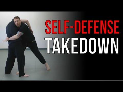 Download Video Body Lock Takedown  - Street Fighting Jiu Jitsu Techniques - Self-Defense Throw