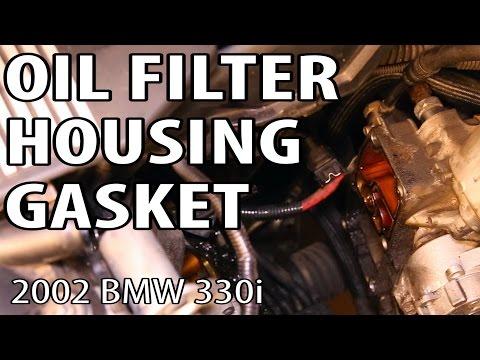 BMW 330i 325i E46 Oil Filter Housing Gasket Change