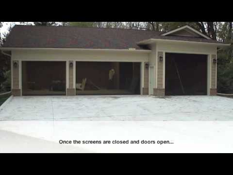 DuraScreens Retractable Screens – Garage and Workshop