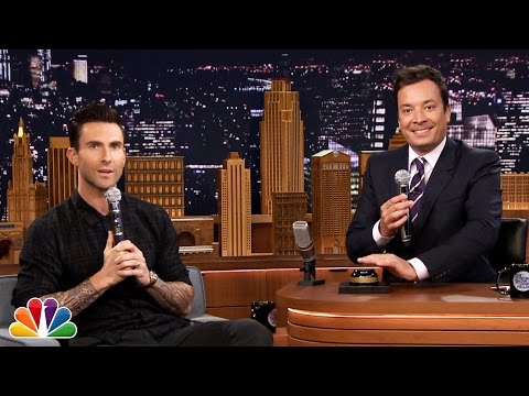 Wheel of Musical Impressions with Adam Levine (видео)