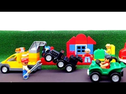 Автосервис лего и ремонтируем машинки