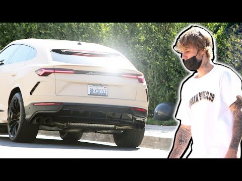 Justin Bieber Visits A Friend While Hailey Works Out With The Girls