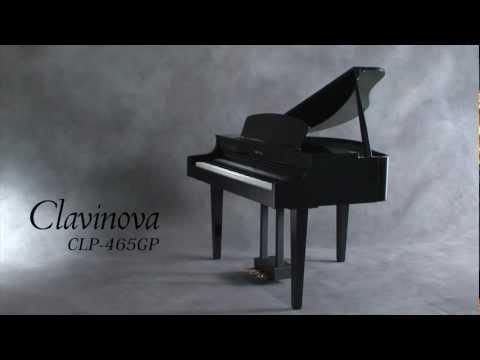 Yamaha clavinova baby grand clp 465 piano video roxy 39 s for Yamaha mini grand piano price