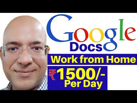 Best work from home   Part time job   Freelance   Google Docs   fivver.com   paypal   Great income